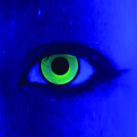 Neon colored contacts and rainbow