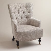 Gray Chenille Nina Chair | World Market