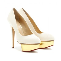 charlotte olympia - dolly canvas platform pumps