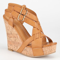 Diva Lounge Loretta Womens Wedges Camel  In Sizes