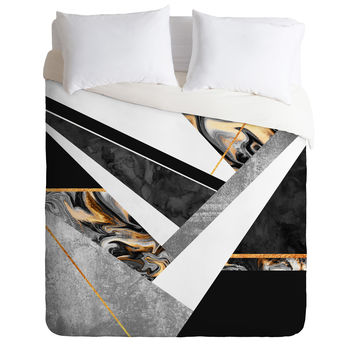 Elisabeth Fredriksson Lines and Layers Duvet Cover