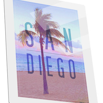 San Diego Beach Filter Metal Panel Wall Art Portrait - Choose Size