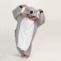 New Cute Cartoon Onesuits Costumes Pajamas All in One Pyjama Animal suits Cosplay Adult Garment Grey Koala fleece