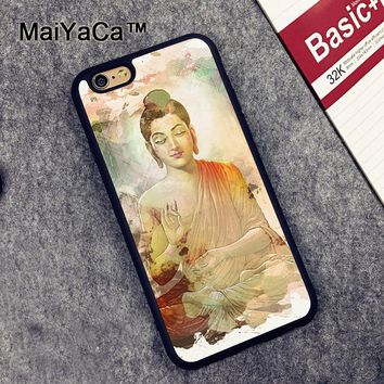 Yoga Meditating Buddha Figurine Soft TPU Phone Cases For Apple IPhone 6S 6 Cover