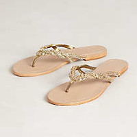 Anthropologie - Sparkle Braided Slides
