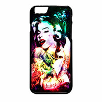Marilyn Monroe Tattooed Flower With Pistol Gun Collage iPhone 6 Plus Case