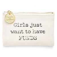 Two's Company 'Girls Just Want to Have FUNDS' Coin Purse | Nordstrom
