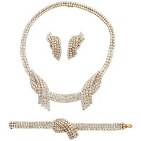 1970s Andre Vassort Paris Diamond Gold Parure Set