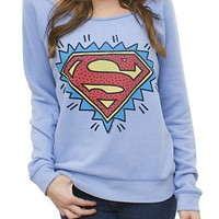Superman Off the Shoulder Flashdance Fleece - Women's Tops - Fleece - Junk Food Clothing