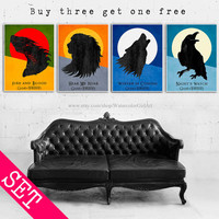 Night Watch Poster. Handmade posters. House Lannister poster. House Stark poster. Targaryen poster