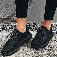 "Fashion ""Adidas"" Women Yeezy Boost Sneakers Running Sports Shoes Black"