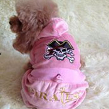 pet clothes dog jumpsuit pet products dog clothes Skull pattern pet clothes comfortable and beautiful. Coverall