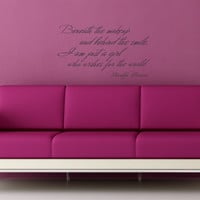 Beneath the Makeup... Marilyn Monroe quote wall decal