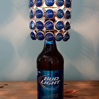 Bud Light 40 Oz Bottle Lamp Complete With Bottle Cap Lamp Shade - The Ultimate Light
