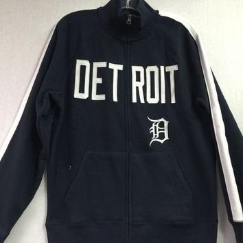 ESBON MLB Detroit Tigers Men's Sport Track Full Zip Jacket