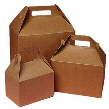 Cardboard Mini Kraft Gable Boxes 4 X 212 X 212  Bakery Boxes  10 each by Paper Mart