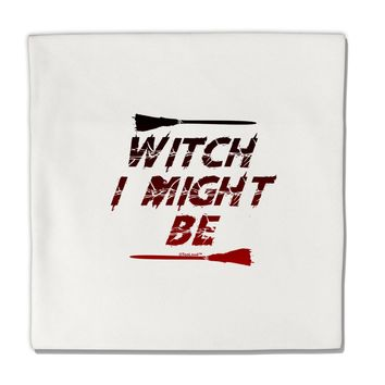 "Witch I Might Be Micro Fleece 14""x14"" Pillow Sham by TooLoud"