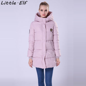 Little Elf! 2016 New Long Winter Jacket Women Slim Female Coat Thicken Parka Down Cotton Clothing Hooded Jackets Student SY020