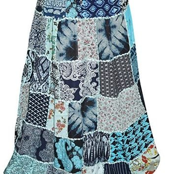 Womens Sexy Skirts Printed Patchwork Peasant Skirts L