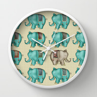 Elephant Wall Clock by Carina Povarchik