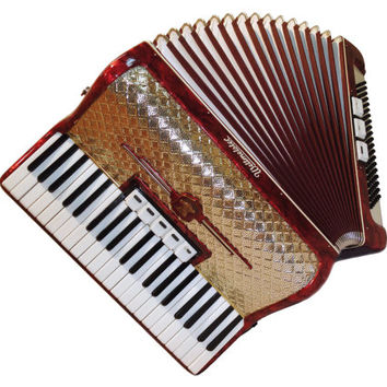 Amazing German Piano Accordion Weltmeister, Full 120 Bass 5 + 3 Switches, 353