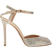 Gianvito Rossi Rhinestone Peep Toe Sandal at Barneys.com