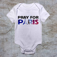 Pray For Paris baby Onesuit, baby romper,baby jumpsuit