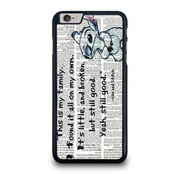 lilo and stitch quotes disney iphone 6 6s plus case cover  number 1