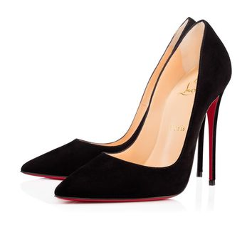 Sale Christian Louboutin Cl So Kate Black Suede 120mm Stiletto Heel 13w
