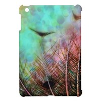 Pastel Peacock Feathers iPad Mini Cover