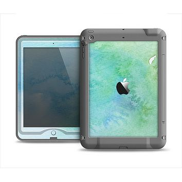 The Subtle Green & Blue Watercolor Apple iPad Mini LifeProof Nuud Case Skin Set