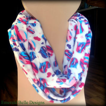 Pink Camo Heart Infinity/Loop Scarf for Infant/Toddler/Child