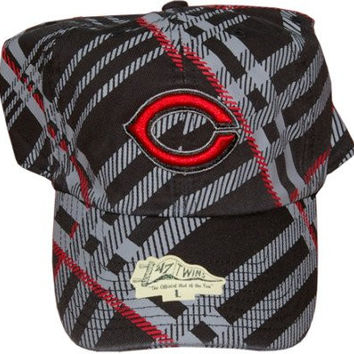 "MLB 47 Brand Cincinnati Reds ""Cross Stripes"" Fitted Baseball Cap Size Large"