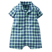 Carter's Plaid Romper - Baby Boy