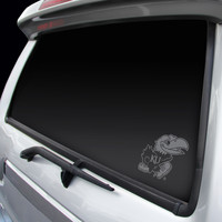 Kansas Jayhawks Chrome Window Graphic Decal
