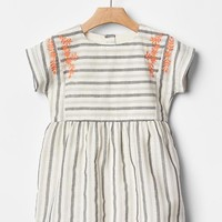 Gap Baby Embroidered Stripe Dress