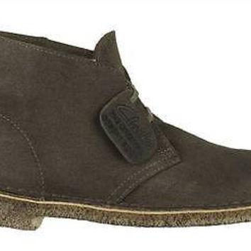 Clarks Originals Mens Desert Boots Taupe Leather 26110054