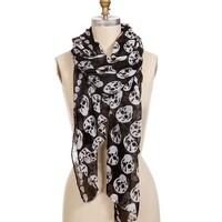 Black Small Skull Best Seller Scarf