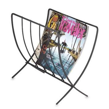 Black Folding Magazine Rack