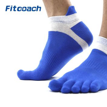 Men's Run Lightweight No-Show Toe Socks