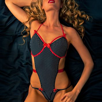 Polka Dot Body with Red Bows