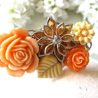 Autumn Love Vintage Style Collage Bracelet