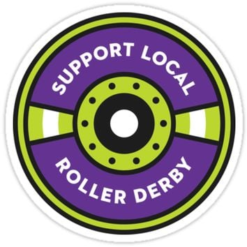 Support Local Roller Derby – Purple/Lime by chelbot