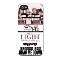 One Direction Drag Me Down Lyrics iPhone 5 Case