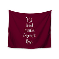 "Kess Original ""Pinot, Merlot, Cabernet, Rosí_Œ© "" White Red Wall Tapestry"