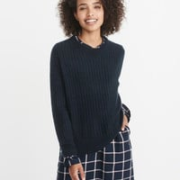Womens Ribbed Pullover Sweater | Womens Tops | Abercrombie.com
