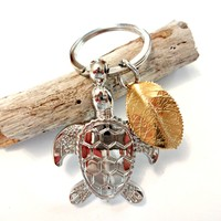 Sea Turtle Keychain, Turtle Gifts