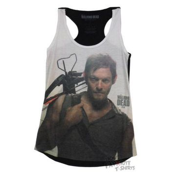 The Walking Dead Daryl Dixon Portrait Junior Oversized Tank Top