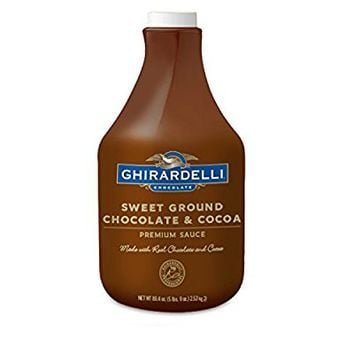 Ghirardelli Chocolate Sweet Ground Chocolate & Cocoa Sauce, 87.3-Ounces Plastic Bottle