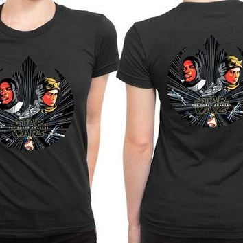 DCCKG72 Star Wars The Force Awakens Fan Art Illustrations 2 Sided Womens T Shirt